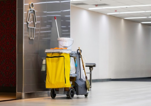 Cleaning Cart for Janitorial Services in Peoria IL